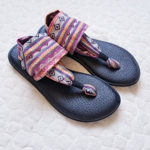 Sanuk yoga slings sandals flip flops comfy boho 6